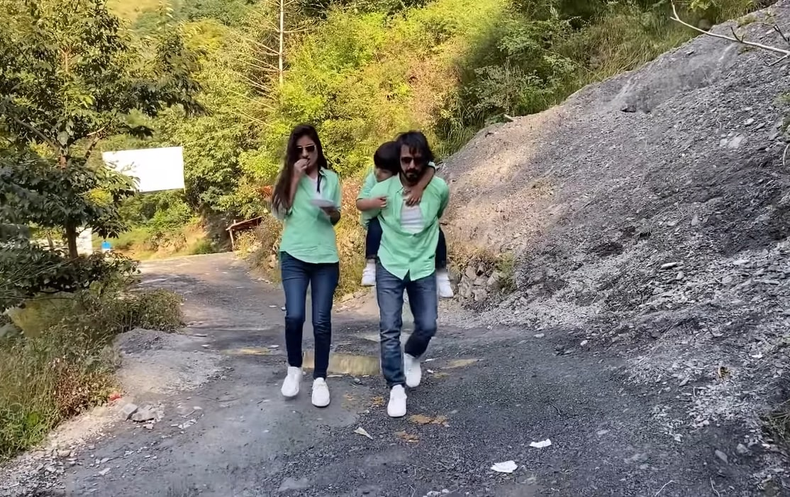 Actor Couple Bilal Qureshi And Uroosa With Their Sohan In Nathia Gali