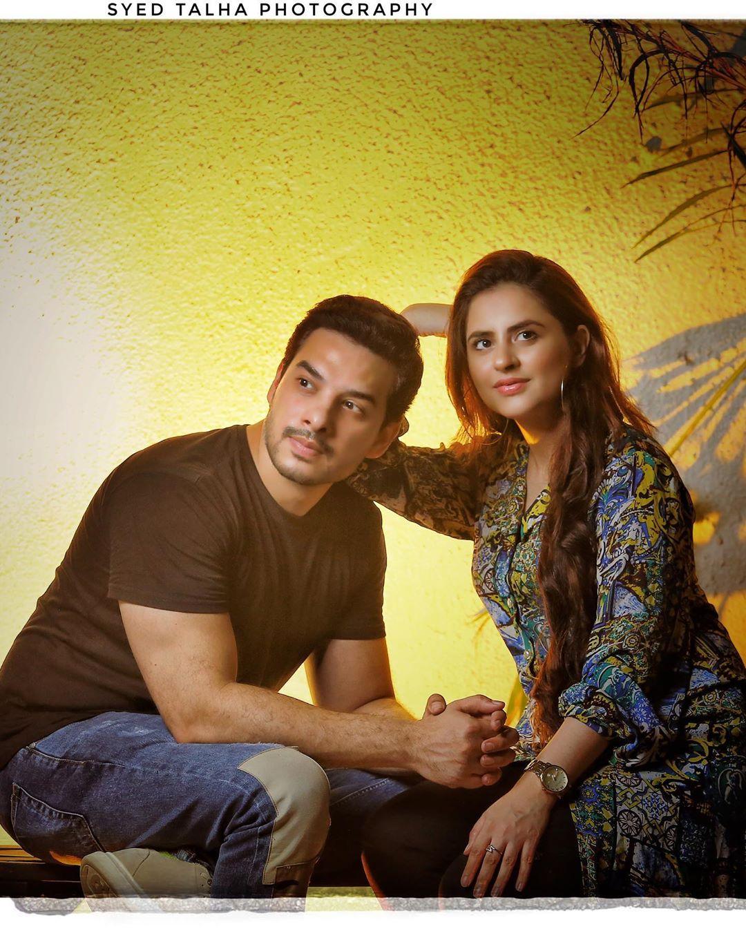 Beautiful Couple Fatima Effendi and Kanwar Arsalan Latest Pictures