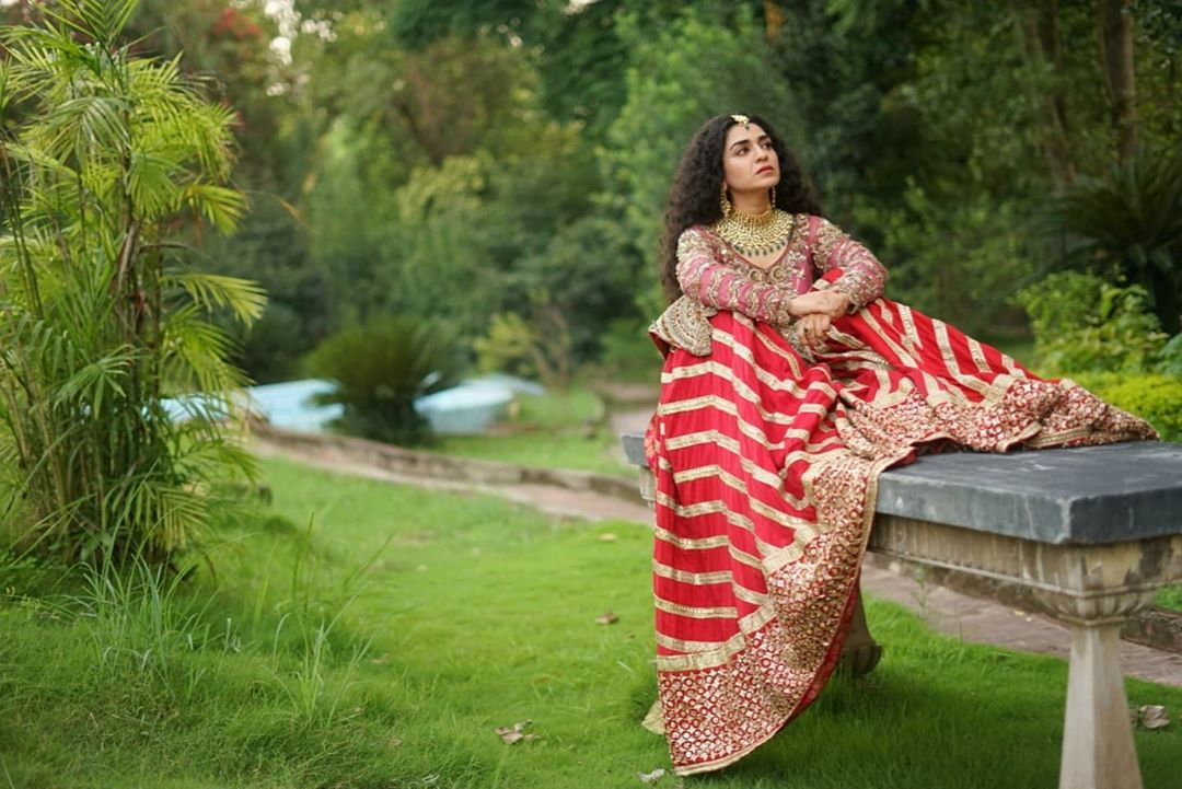 Actress Hajra Yamin Latest Bridal Photo Shoot