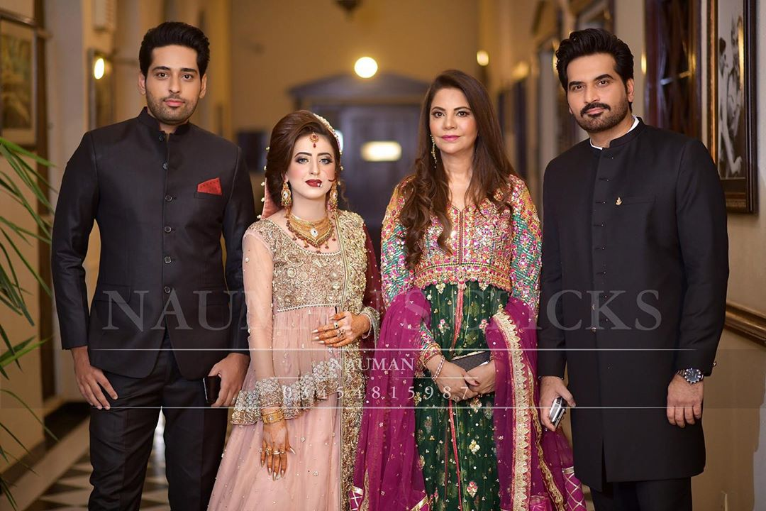 Humayun Saeed Clicks with Wife From His Brother Wedding