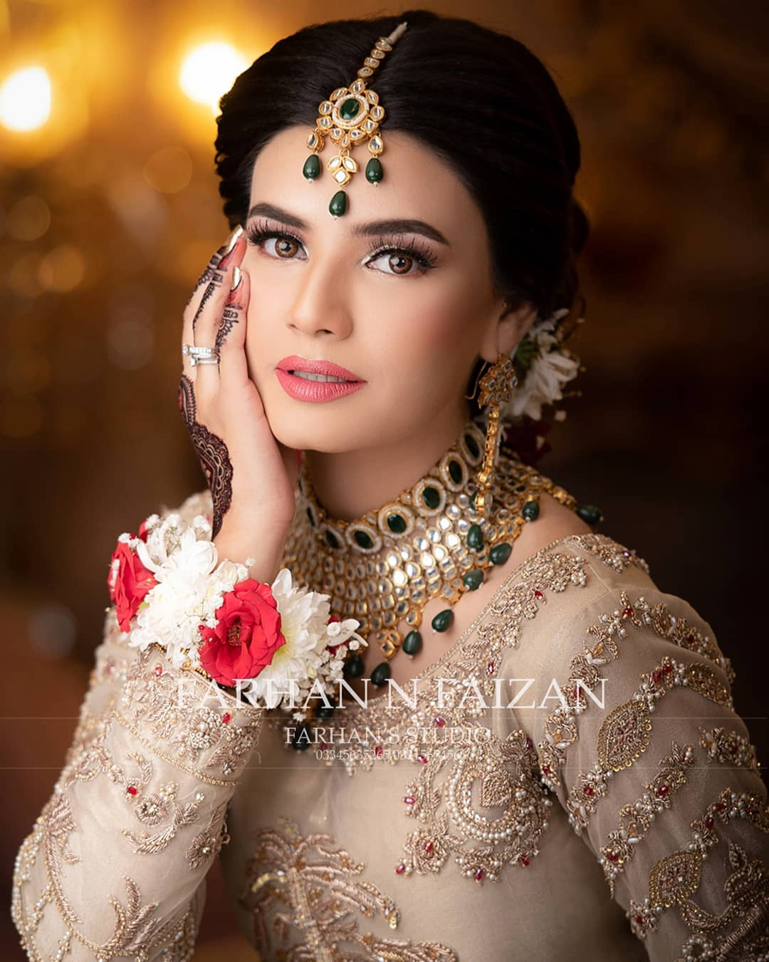 Actress Kiran Haq Beautiful Bridal Makeup Photo Shoot for Royli Salon