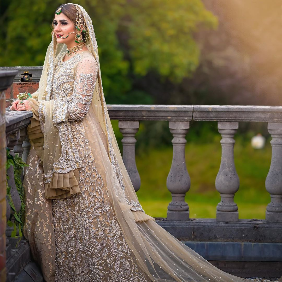 "Gorgeous Kubra Khan Bridal Makeup Shoot Campaign ‎""Adaab e Nikkah"" for Kanzah Beauty"