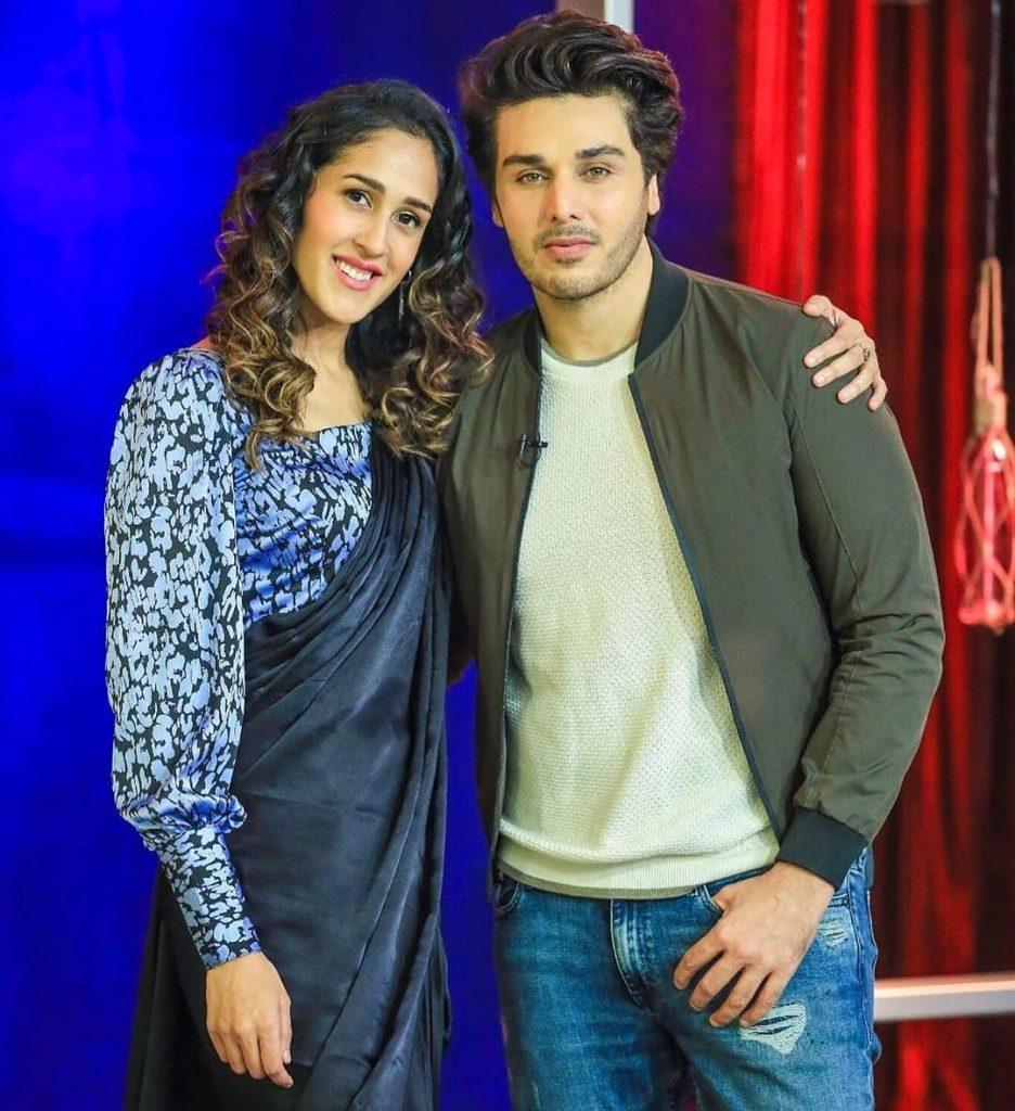 Mira Sethi, Adnan Malik Spotted On The Sets Of Bol Nights