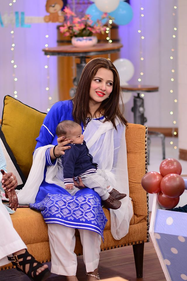 Mohabbat Tujhe Alvida Star Mizna Waqas Celebrates First Birthday Of Her Son