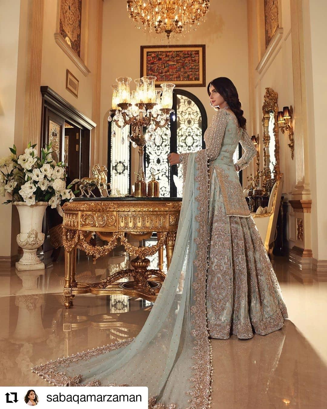 Saba Qamar Latest Bridal Photo Shoot for Aisha Imran