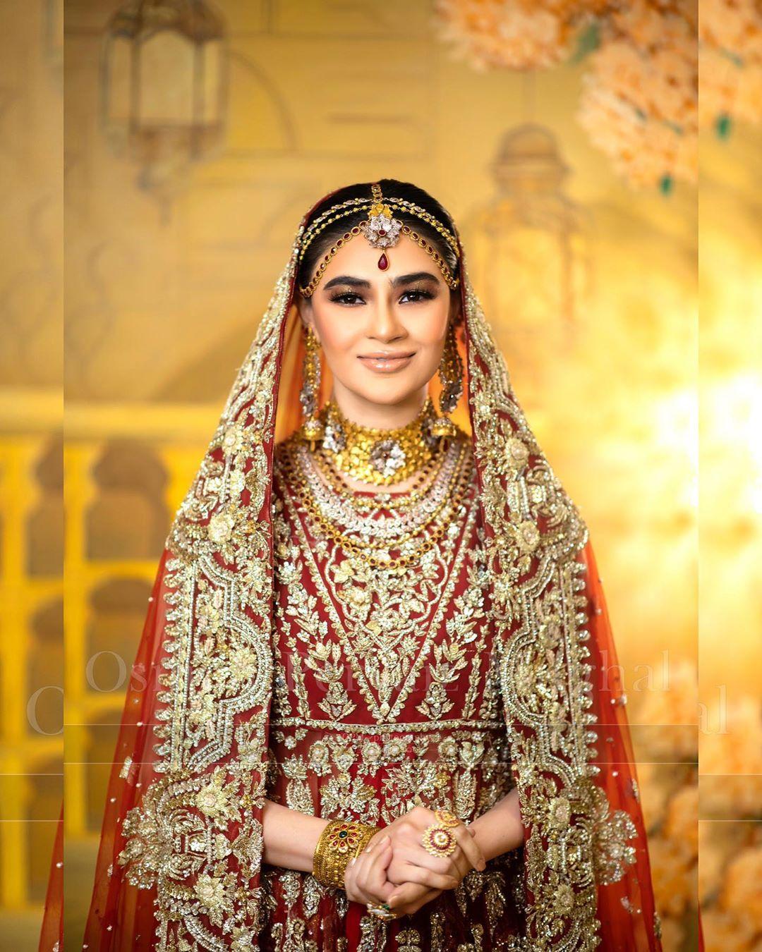 Saheefa Jabbar Khattak Beautiful Bridal Makeover Photo Shoot for Hina Shah