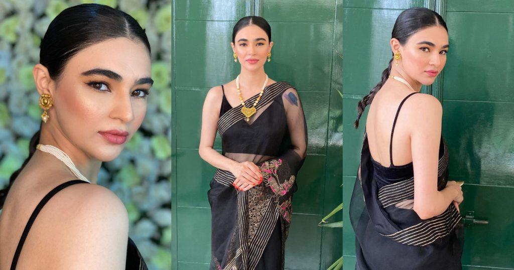 Saheefa Jabbar's Breathtaking Pictures In Black Saree