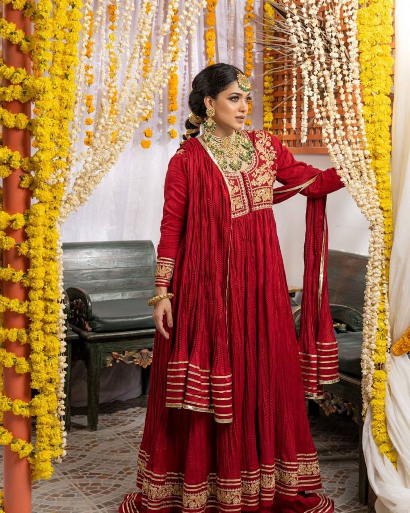 Sanam Jung Looks Stunning In Red Dress
