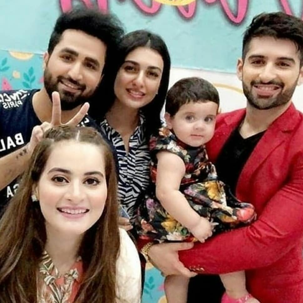 Newly Wed Couple Sarah Khan and Falak Shabir Spotted at Amal Muneeb Birthday Party