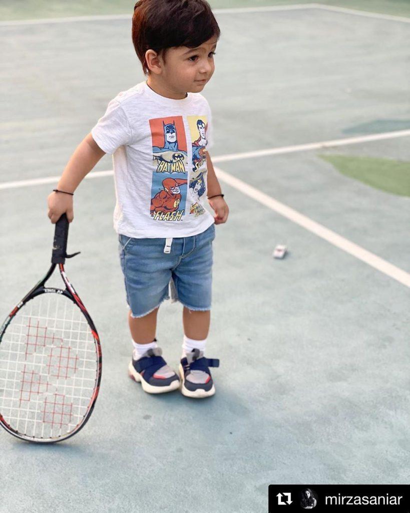 Shoaib Malik Shares Sweet Father-Son Moment