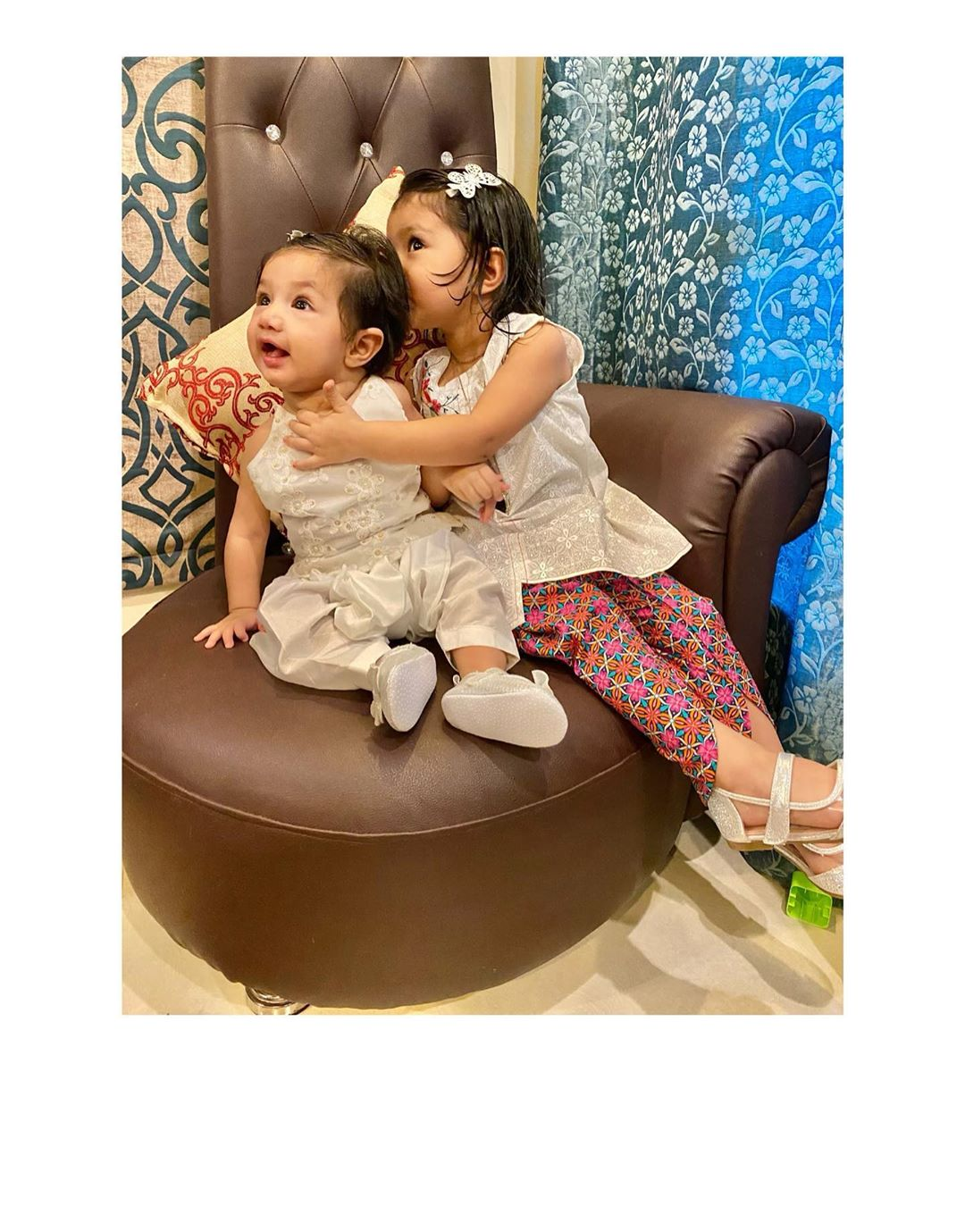 Actress Sidra Batool Latest Clicks with her Cute Daughters
