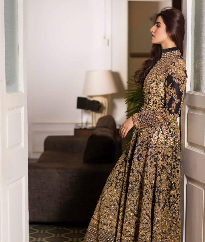 Stunning Hareem Farooq In Bridal Dress By HSY