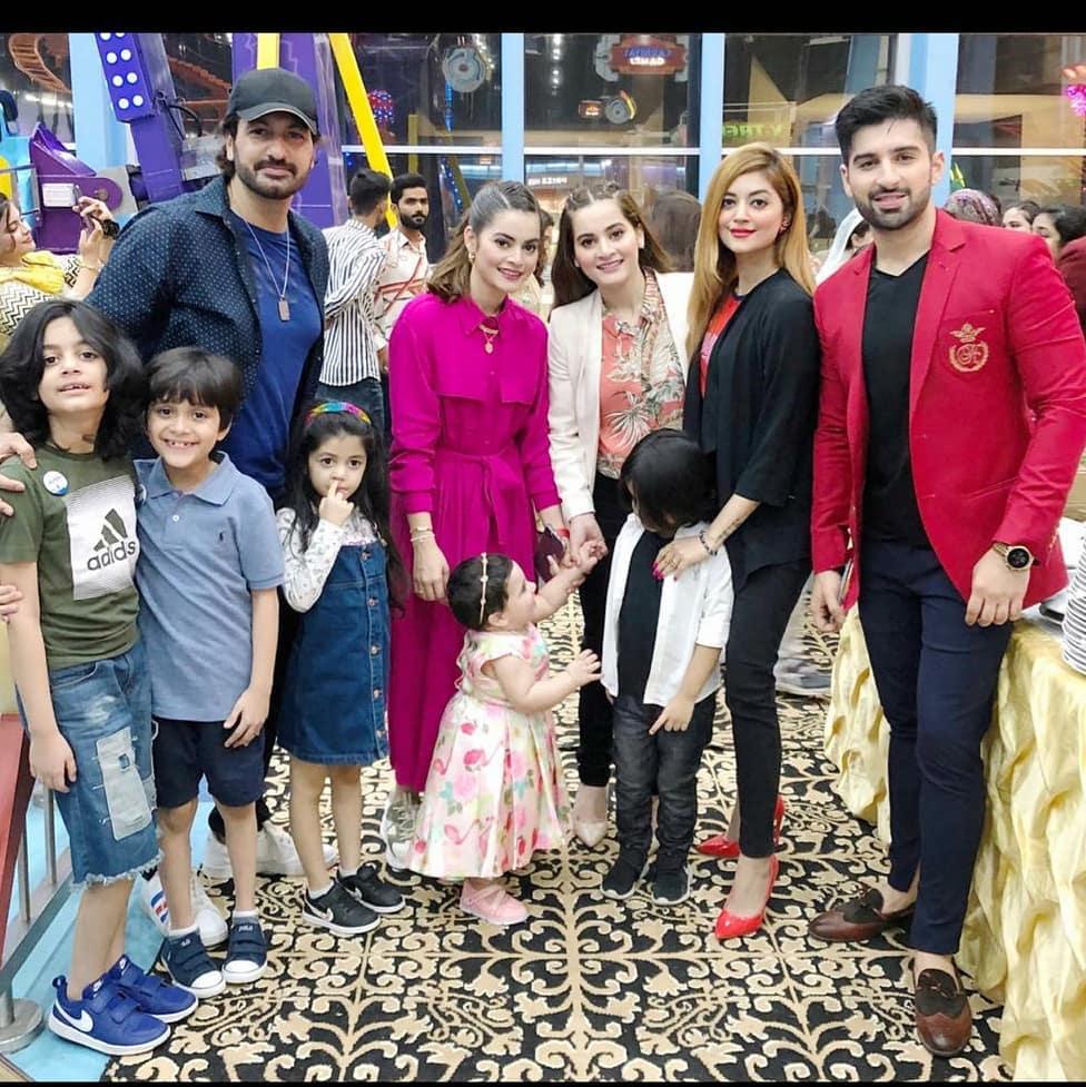 Syed Jibran with his Family at Amal Birthday