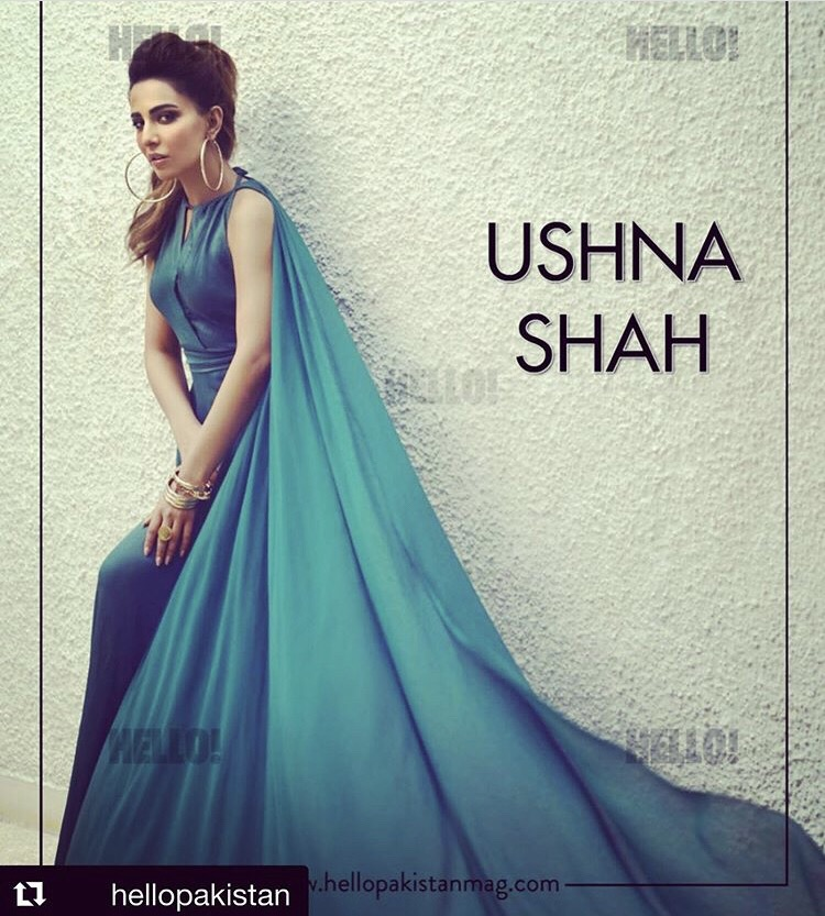 Ushna Shah Latest Photoshoot For Hello Pakistan