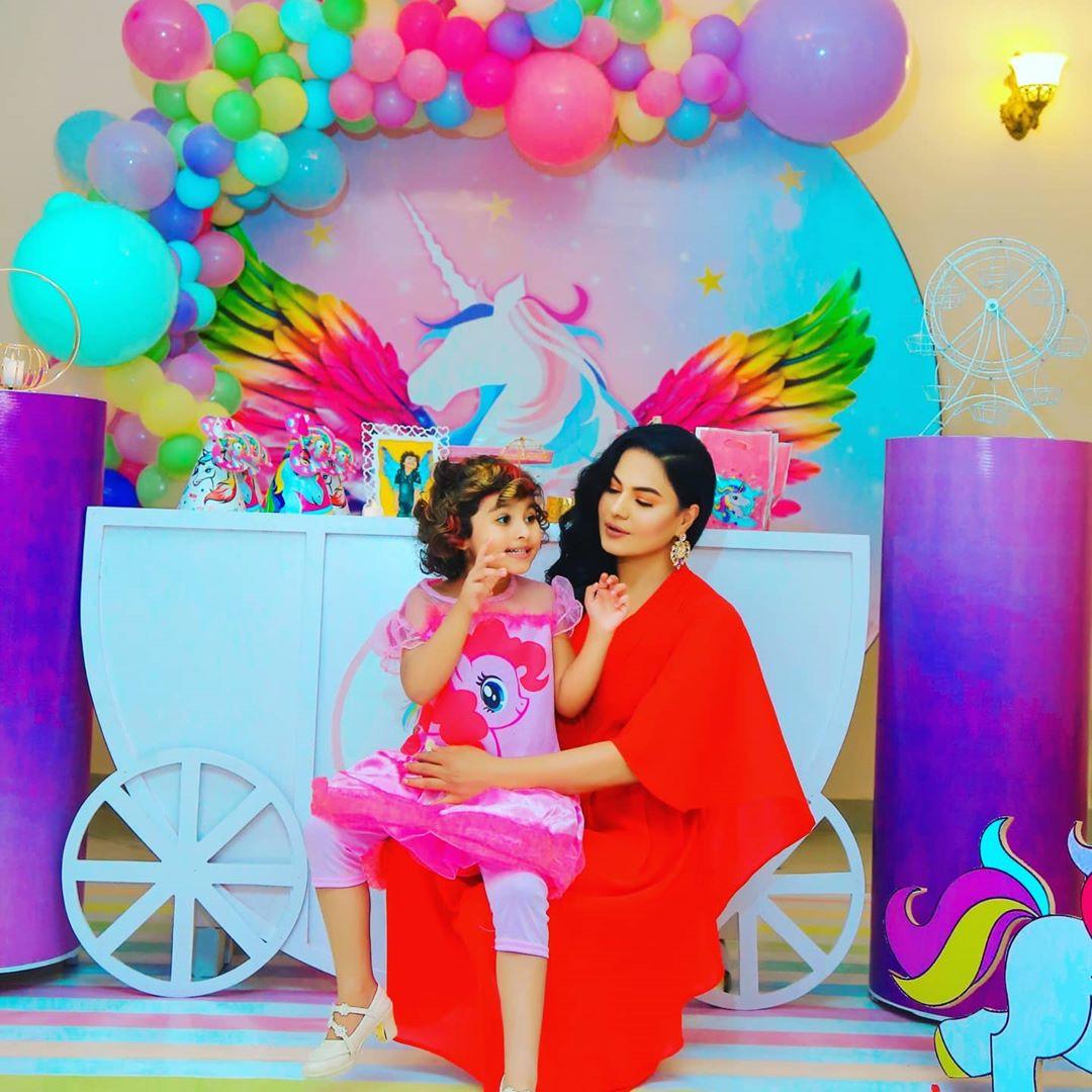 Veena Malik Celebrated Birthday of her Daughter Amal