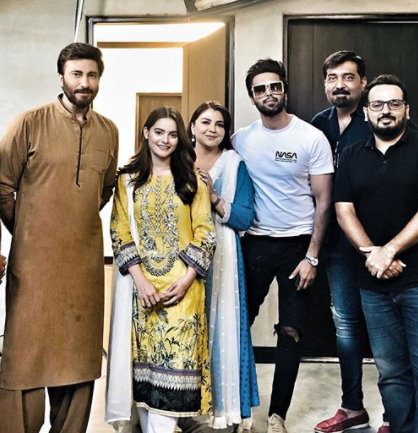 Faiza Hasan On The Set Of Her Latest Drama Serial Nand