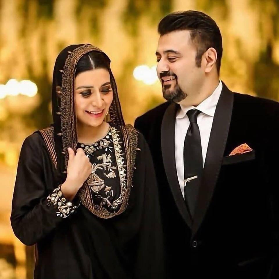 Ahmed Ali Butt And Fatima Khan At Wedding Function Of Salman Saeed