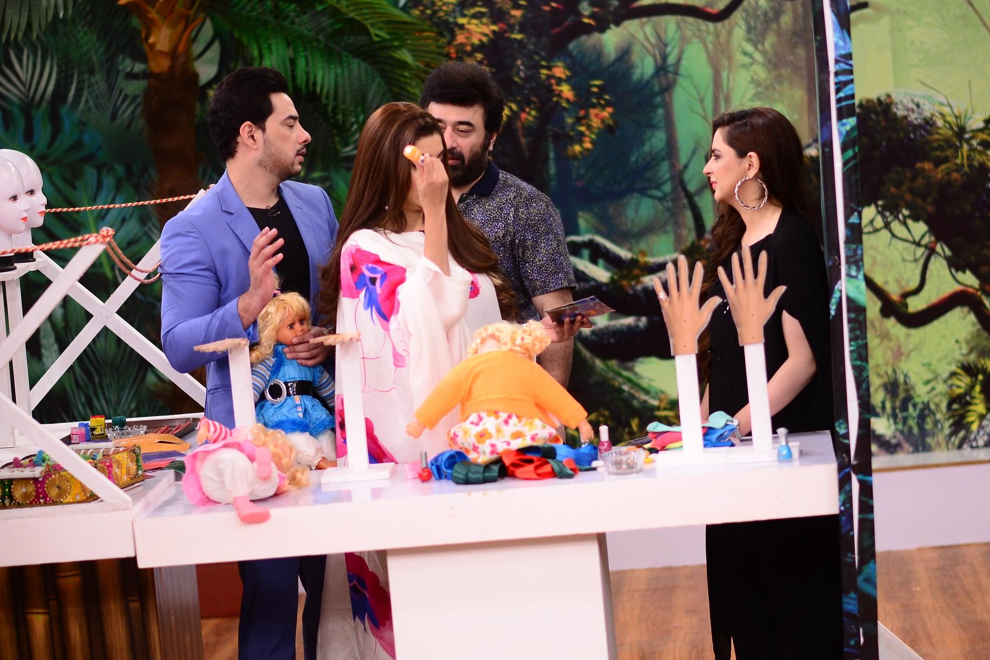 Fatima Effendi and Kanwar Arslan Beautiful Clicks in Nida Yasir Morning Show