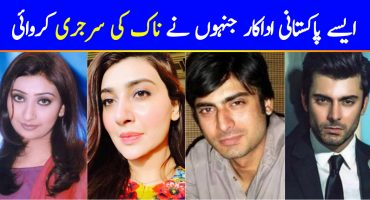 Pakistani Celebrities Before and After Nose Surgery