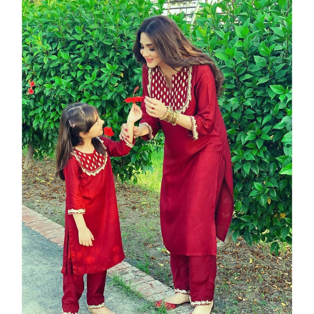 Fiza Ali Twinning With Her Daughter And Remembering Her Own Childhood Days
