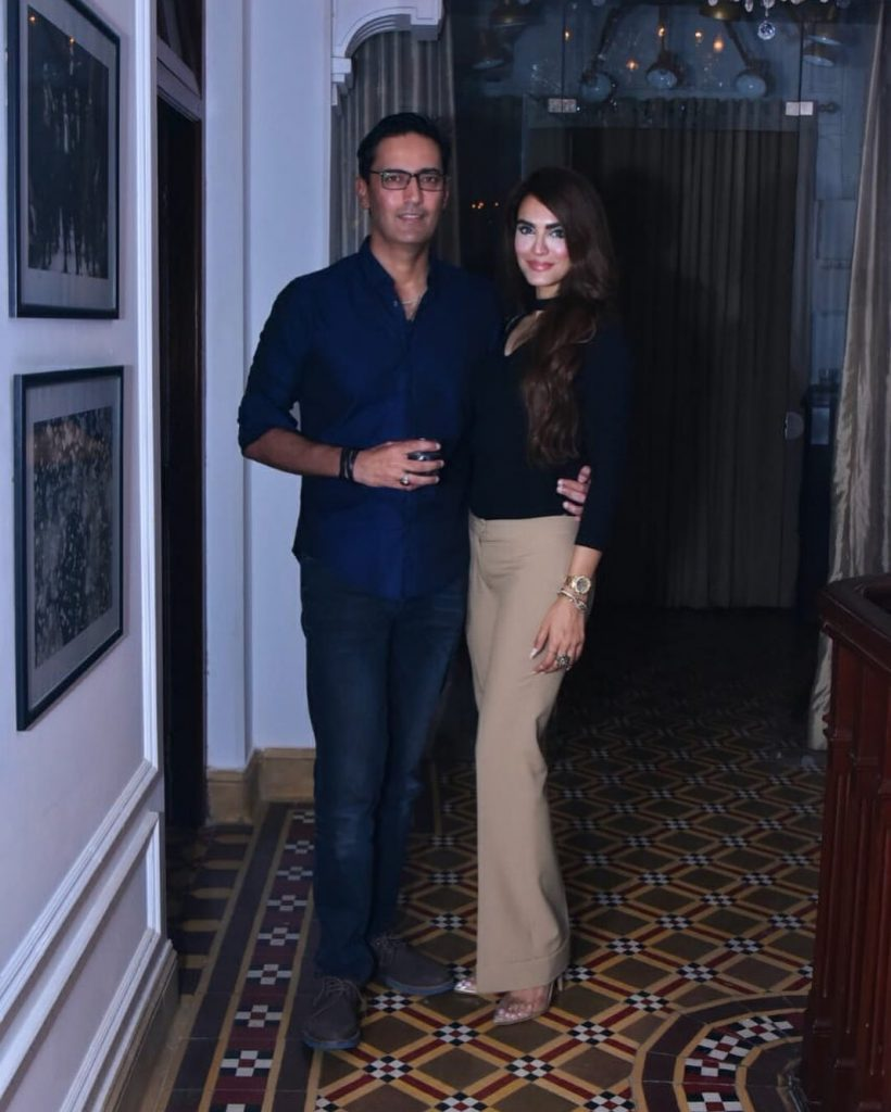 Unseen Pictures of Nadia Hussain with Her Husband Atif Khan
