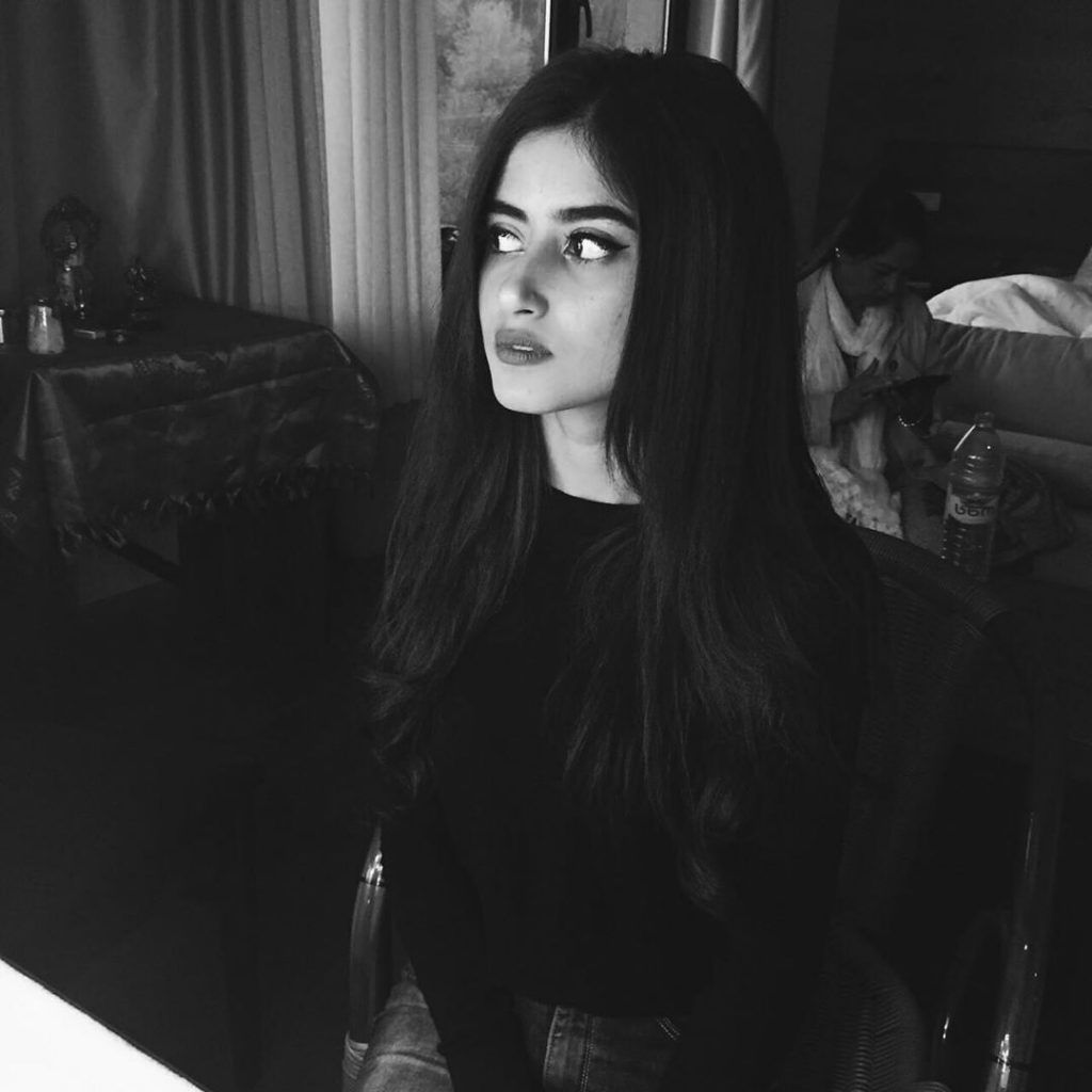 Latest Pictures of Sajal Aly in Black and White