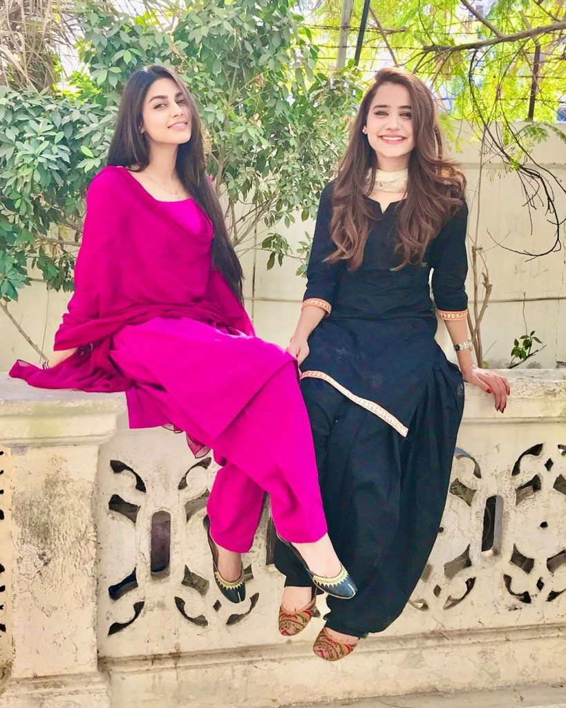 Saniya Shamshad Shares Some Throwback Pictures With Anzela Abbasi