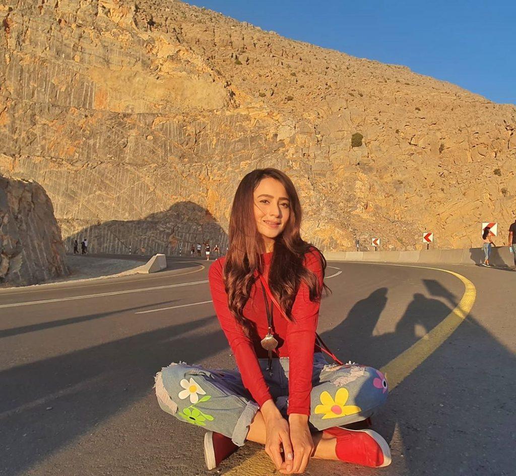 Zarnish Khan On A Road Trip To Jebel Jais Dubai
