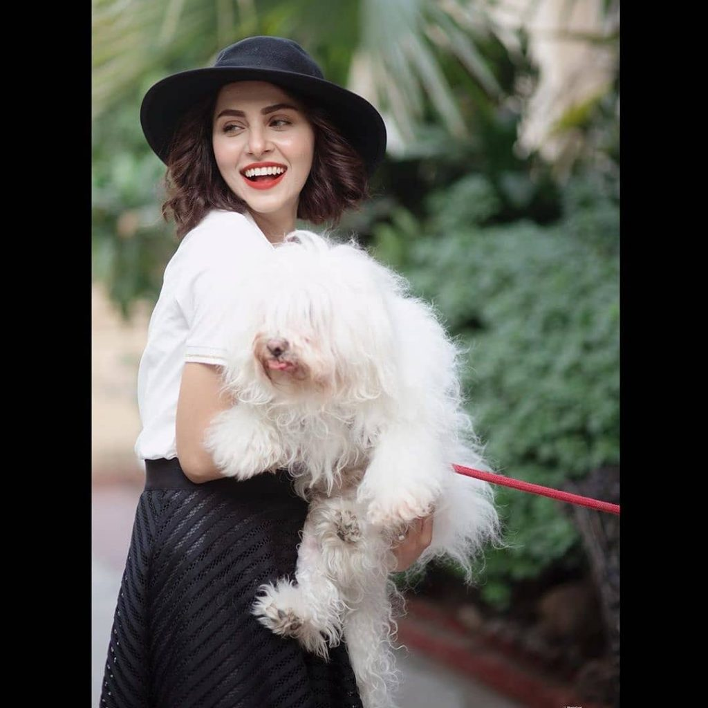 Nimra Khan's Latest Photoshoot With A Pup