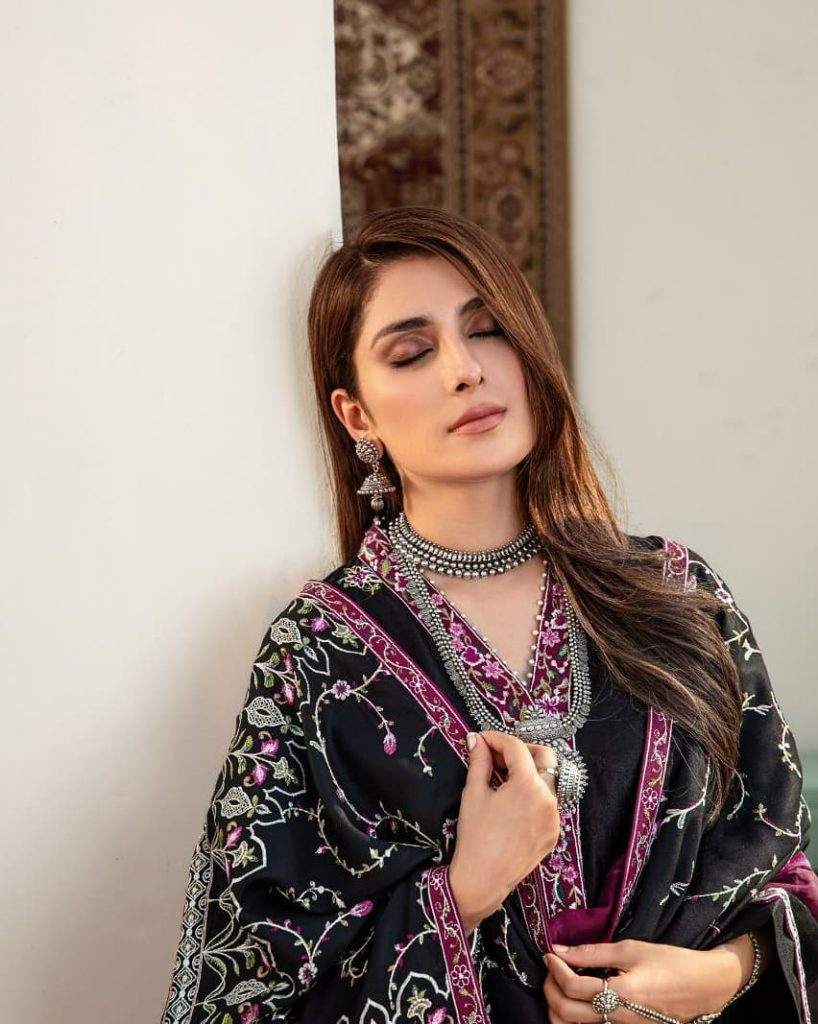 Ayeza Khan's Latest Photoshoot For Noor Winter Collection