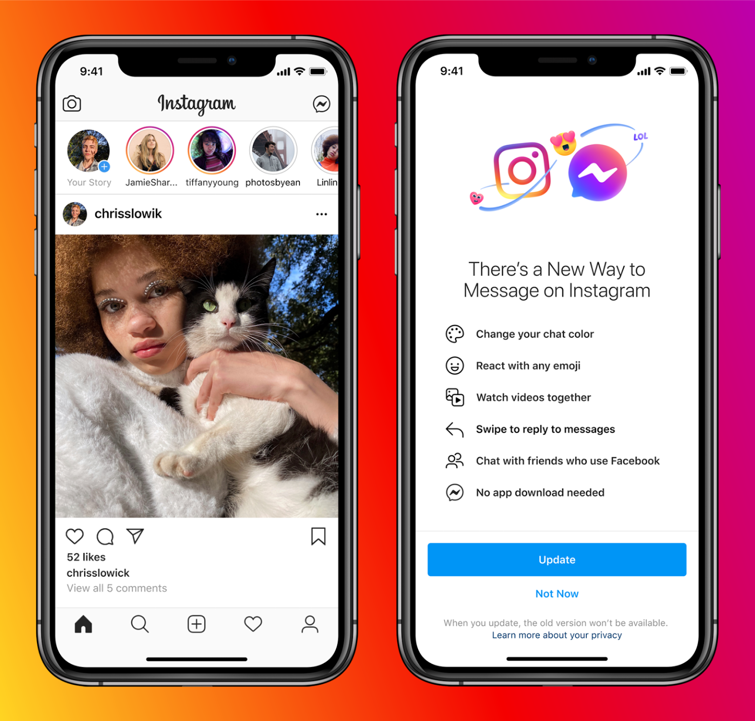Facebook and Instagram Users Can Now Message Each Other