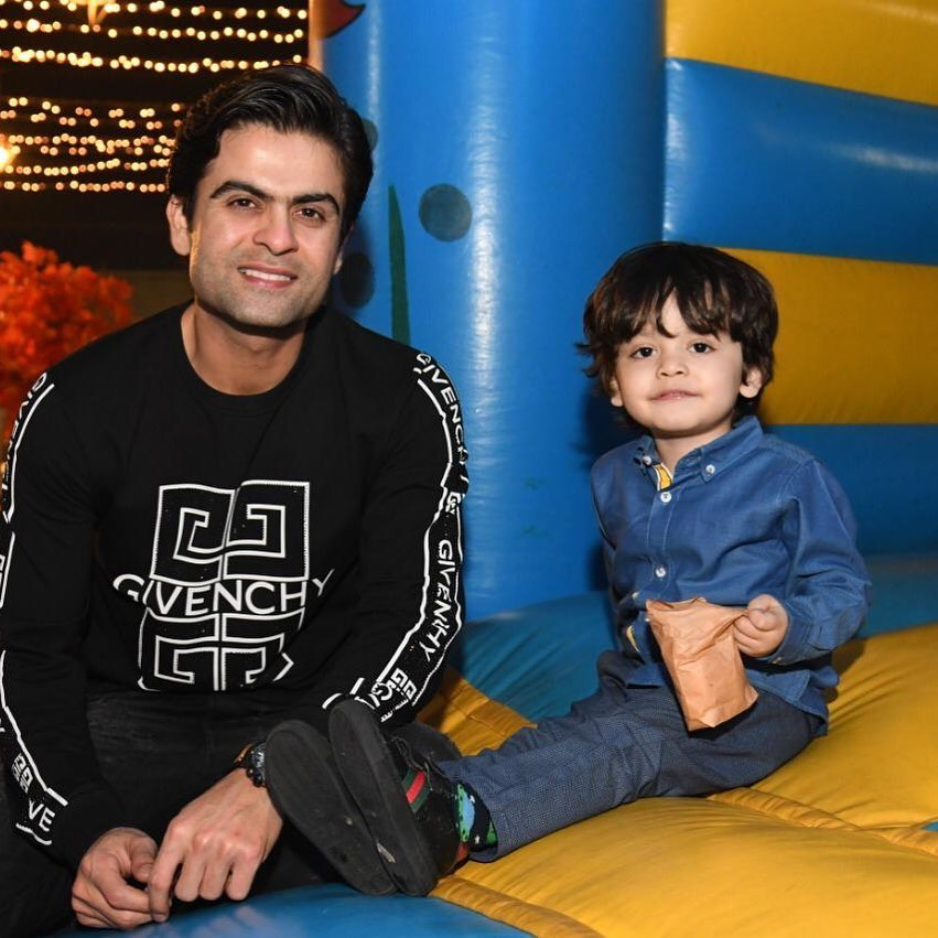 Cricketer Ahmad Shahzad with his Wife and Son - Latest Pictures