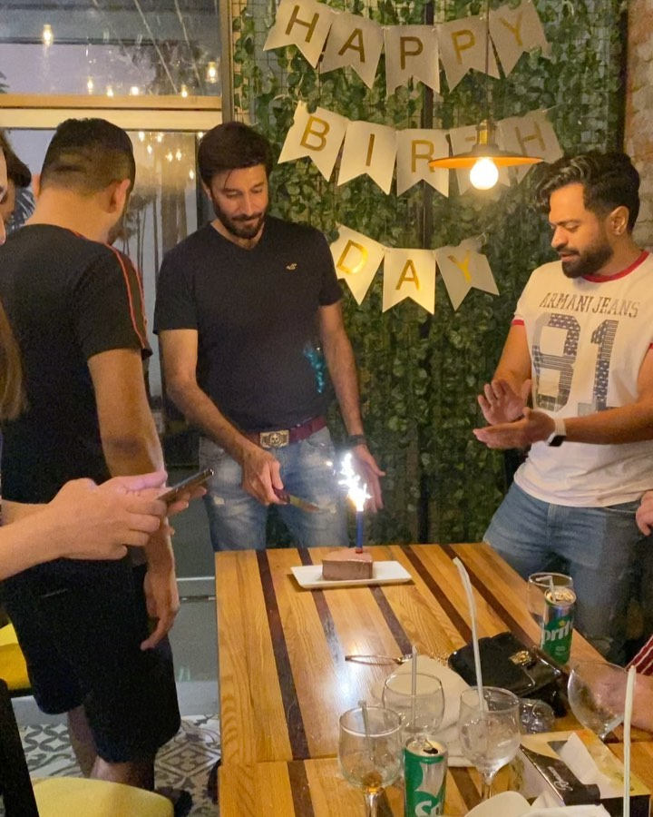 Actor Ijaz Aslam Celebrating Birthday with his Close Friends