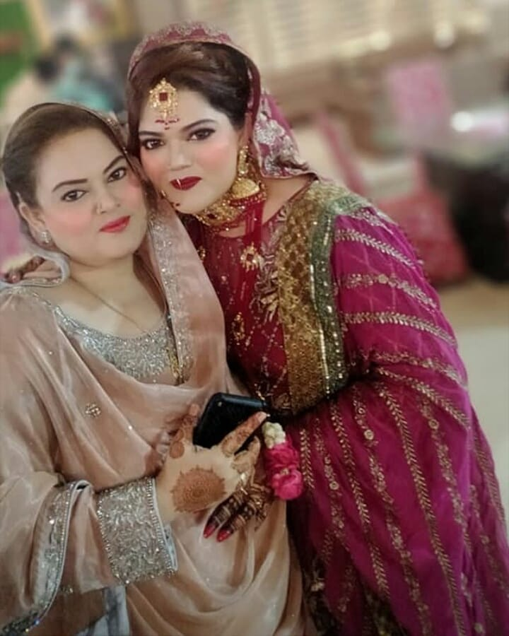 Aiman Khan Spotted at the Wedding of her Cousin with her Family