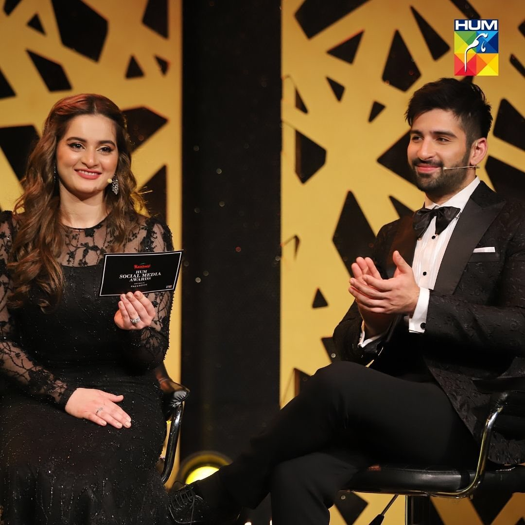 Aiman Khan Won the Most Followed Celebrity in Pakistan Award by Hum Social Media Awards