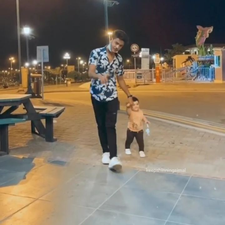 Aiman and Minal Khan with their Family at Bahria Adventure Land