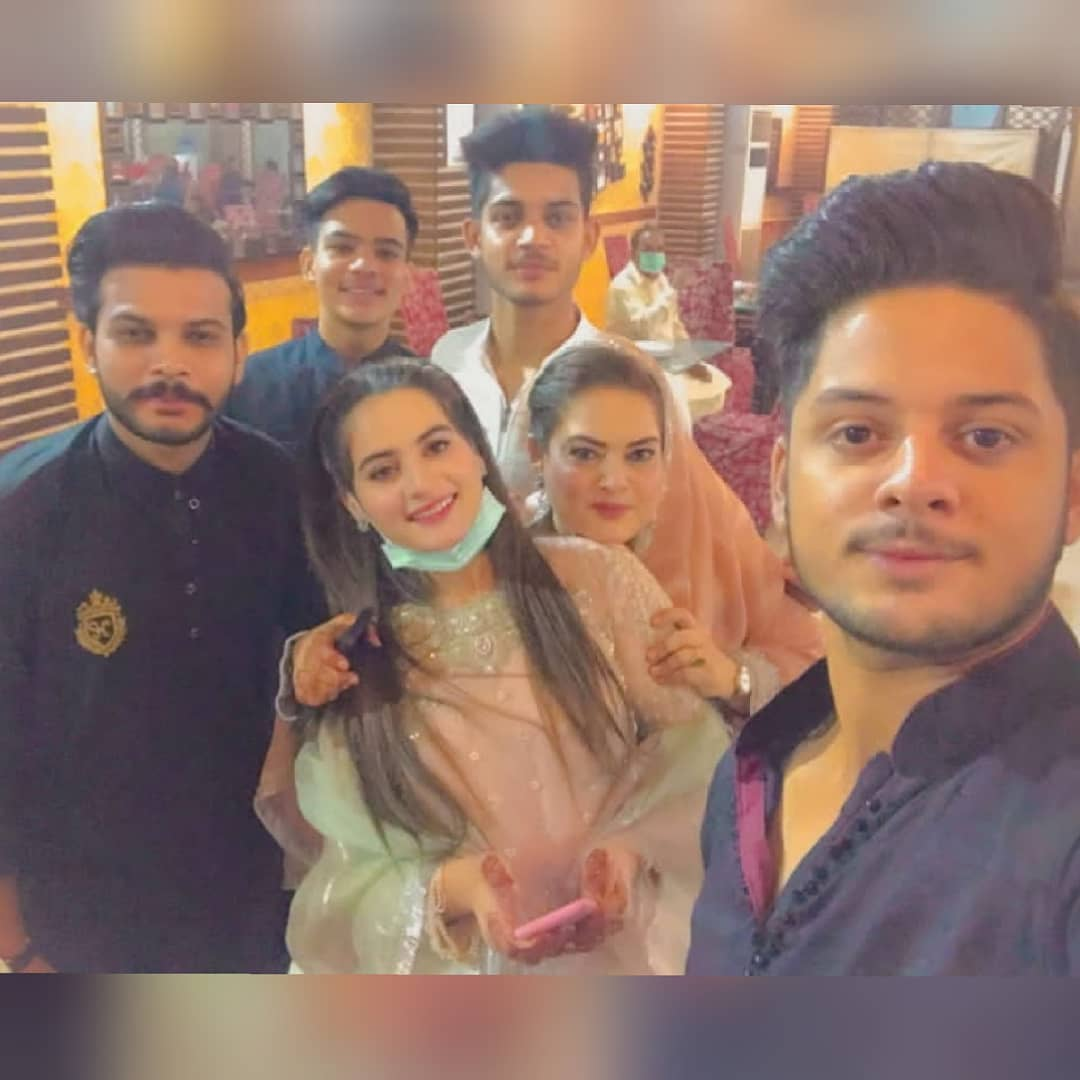 Beautiful Clicks of Aiman and Minal at a Family Mehndi