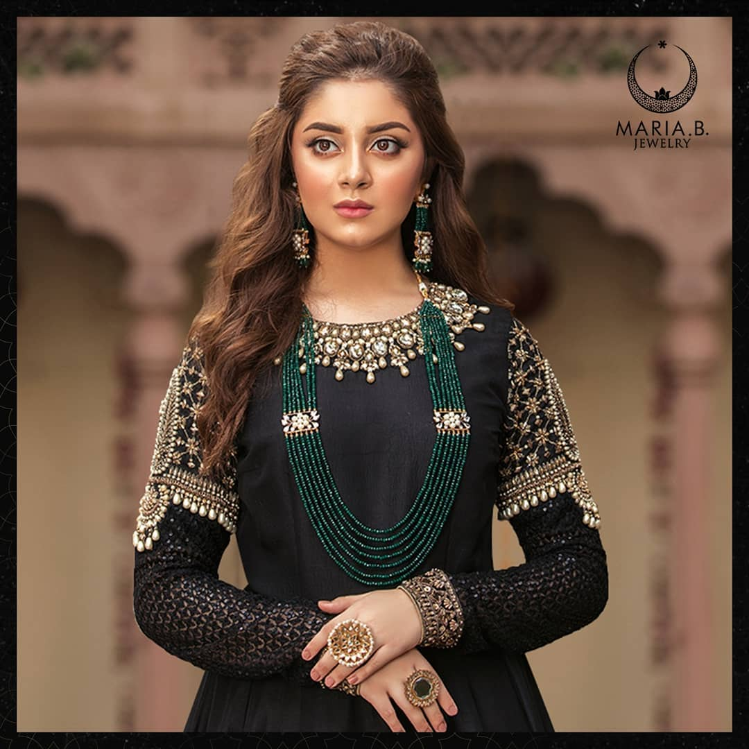 Alizeh Shah Latest Shoot for Maria.B Jewelry Collection