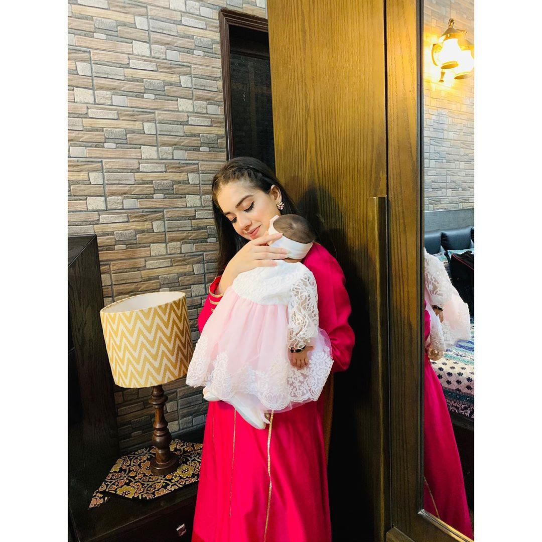 Actress Arisha Razi Khan Shared Adorable Pictures With Her New Born Niece