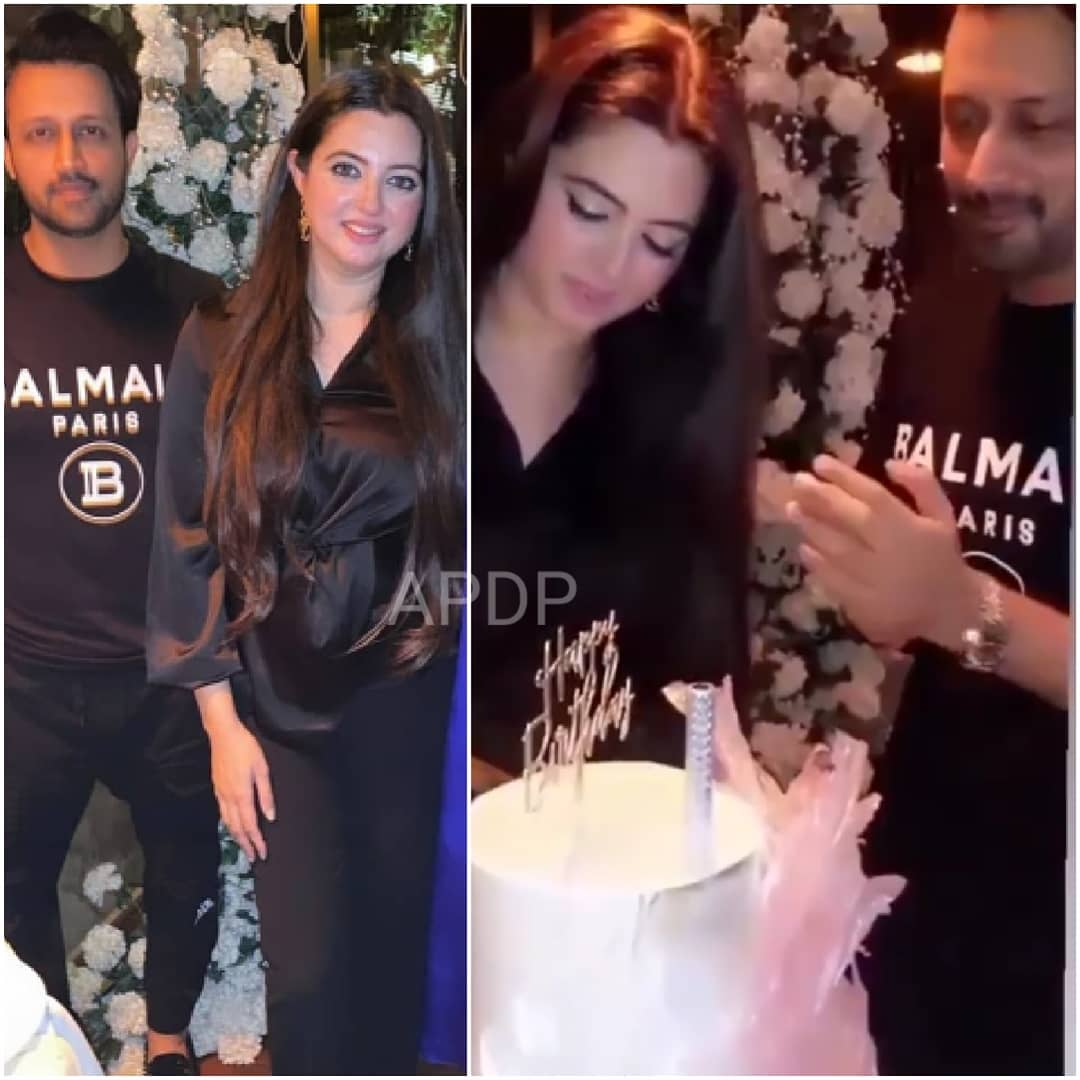 Beautiful Pictures from Birthday Party of Atif Aslam with his Wife Sarah