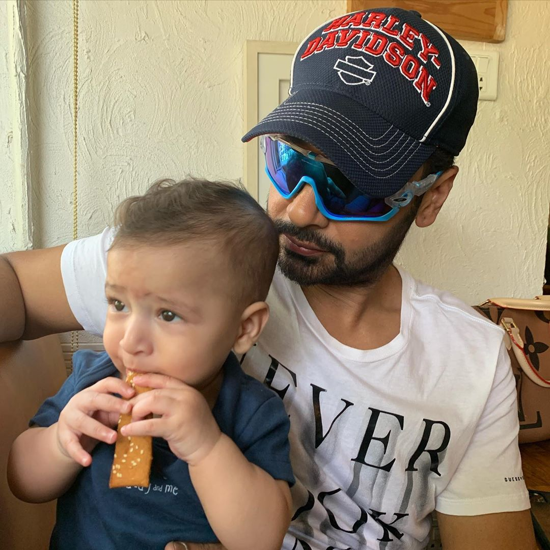 Faysal Qureshi with his Cute Son - Adorable Pictures
