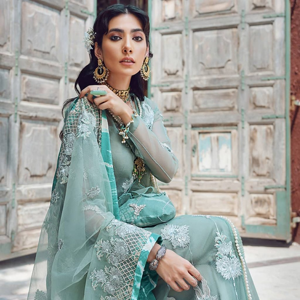Gorgeous Eman Suleman Featured In Kinaar Festive Collection