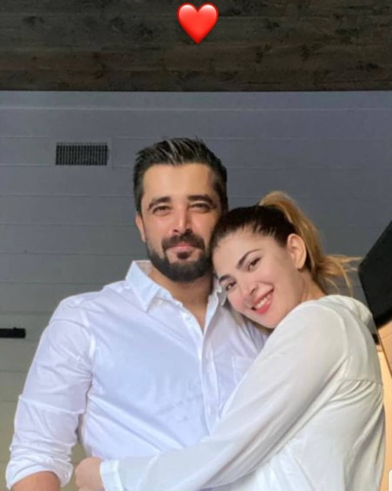Hamza Abbasi and Naimal Khawar Latest Pictures with their Son