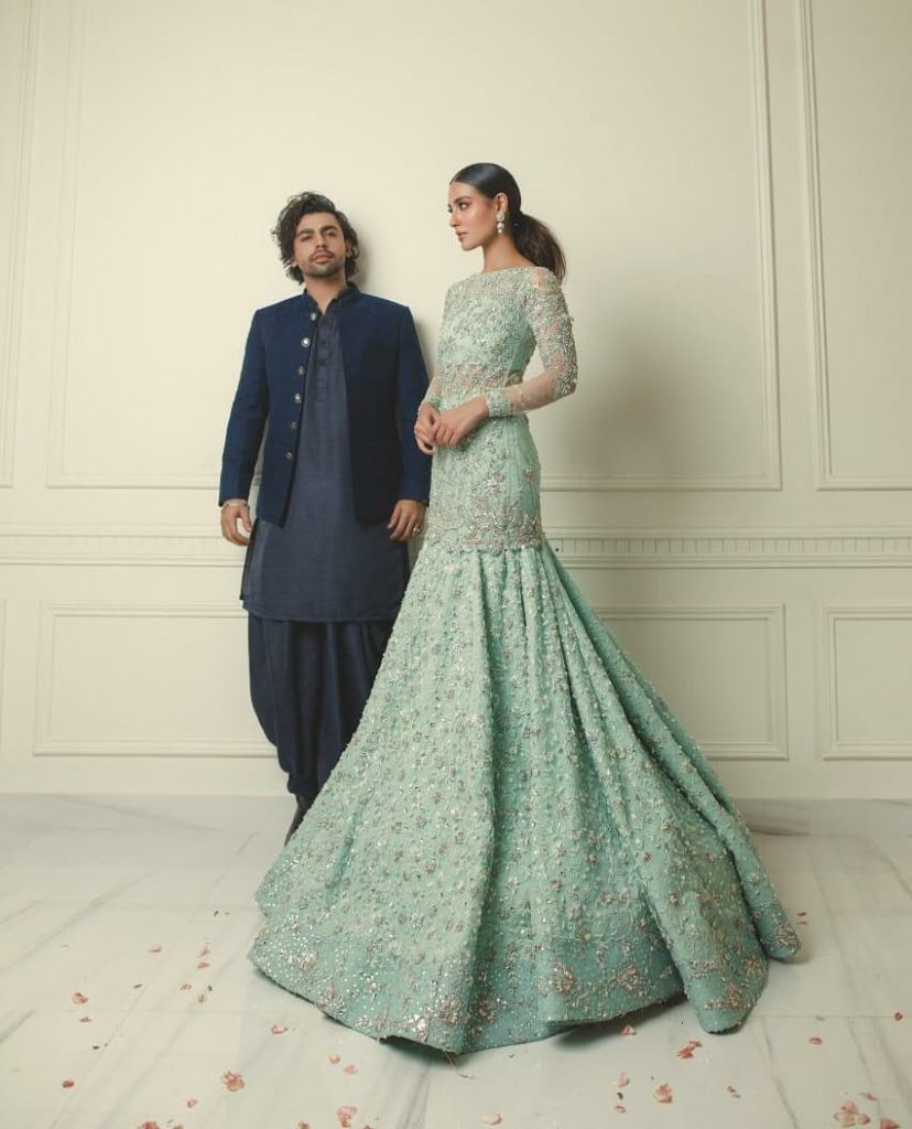 Iqra Aziz, Farhan Saeed Featured In Festive Collection Of Zubia Zainab