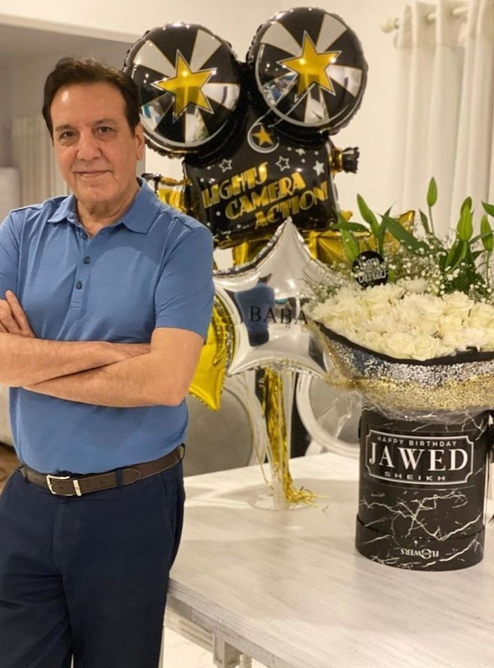 Actor and Director Javed Sheikh Celebrating his Birthday with his Family
