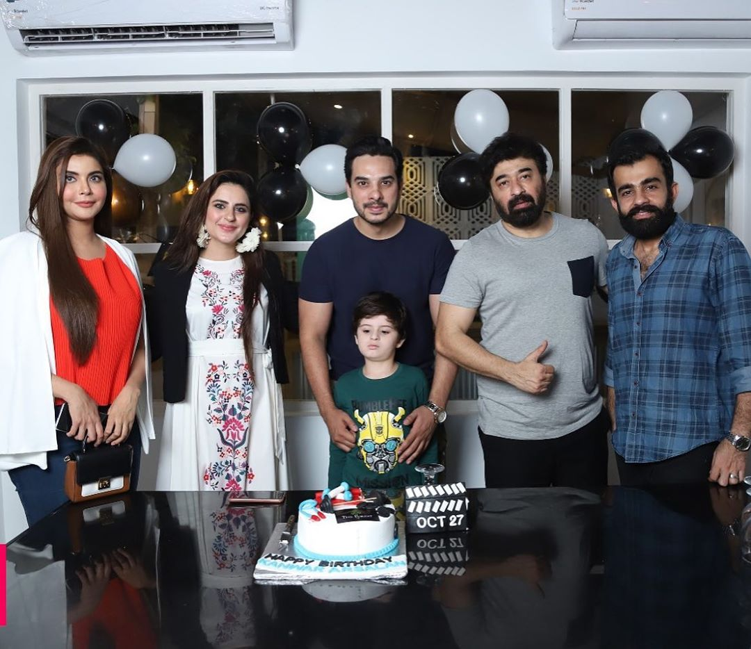 Actor Kanwar Arsalan Celebrated his Birthday with his Cute Family