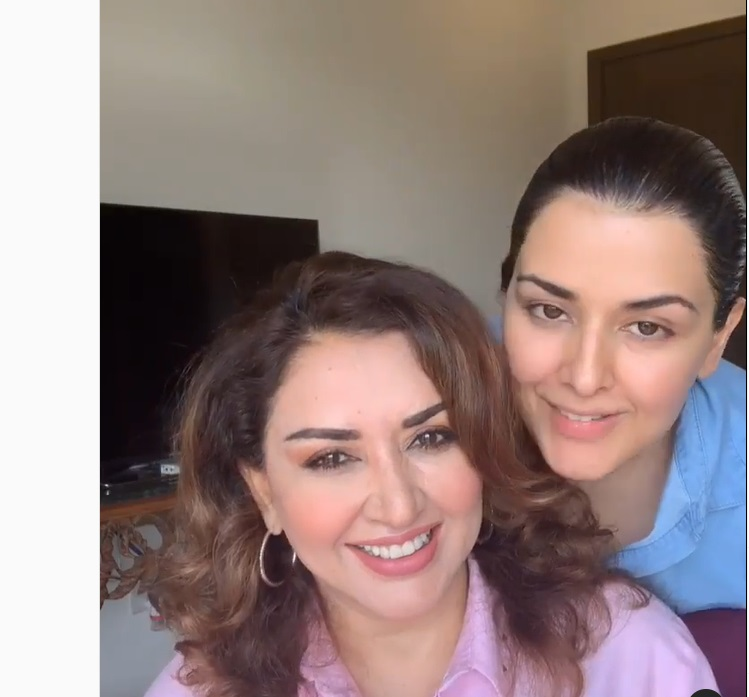 Grand Daughter of Noor Jahan Natasha Khalid with her New Born Baby