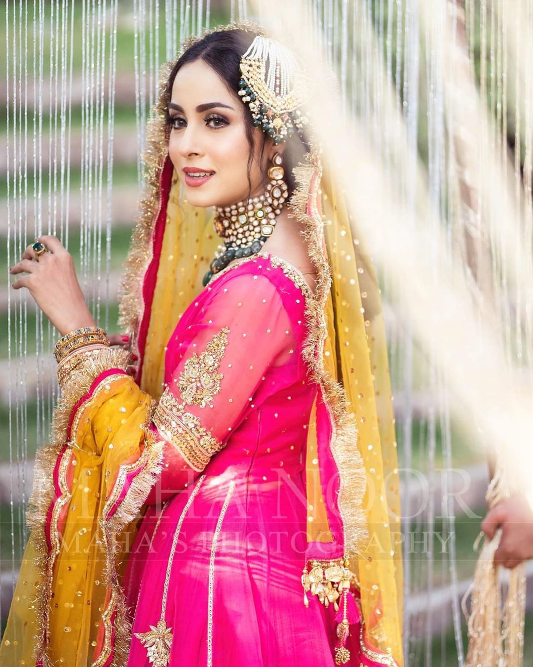 Nimra Khan is Looking Beautiful in her Latest Bridal Shoot for Faiza Salon