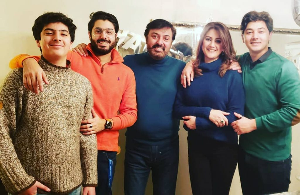 Noman Ijaz And Son Have Fun Time Together