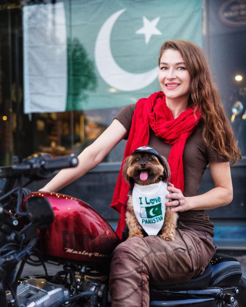 Rosie Gabrielle Receives Hate For Dressing Dog In Pakistani Flag